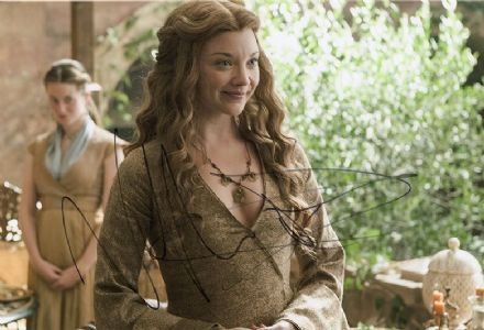 Natalie Dormer, Game of Thrones, signed 12x8 inch photo.(2)